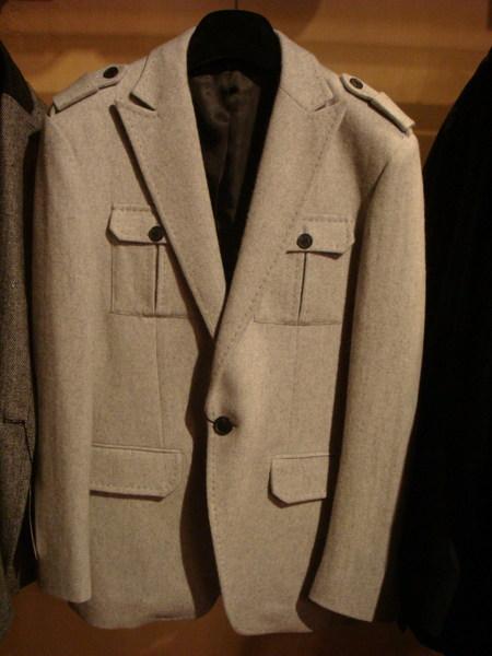 毛料造型西裝外套