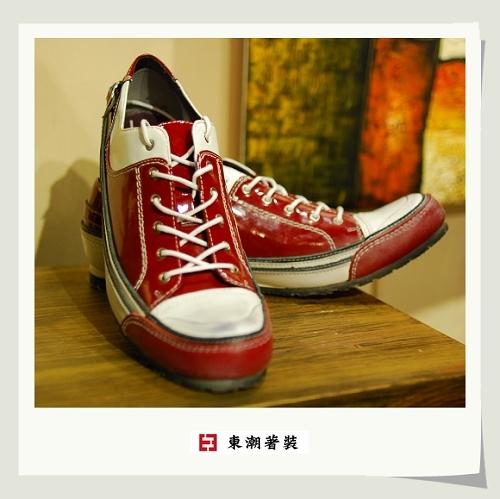 日系休閒鞋紅