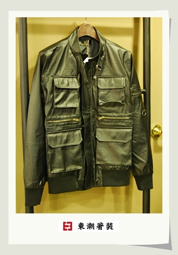 合皮造型夾克