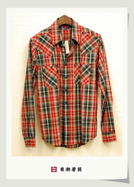 紅黑格紋休閒襯衫.jpg