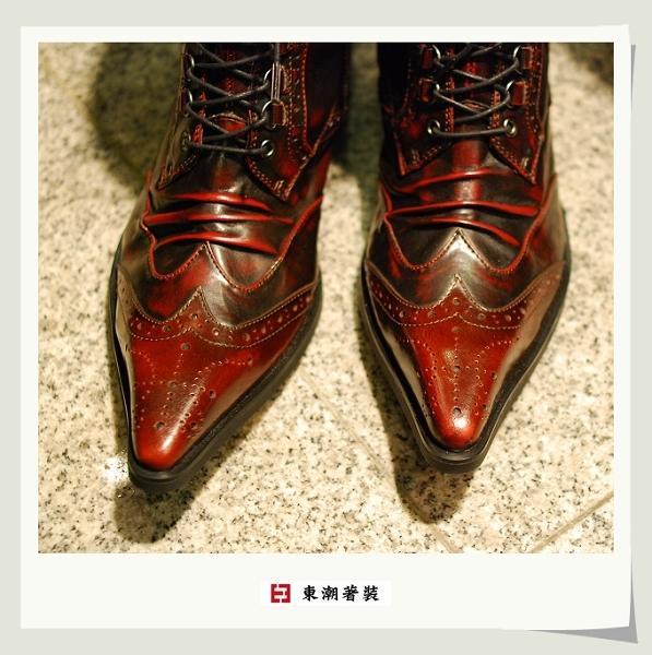 日本紅色高筒長靴A