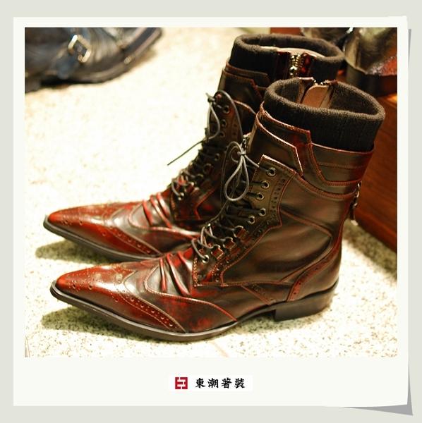 日本紅色高筒長靴B