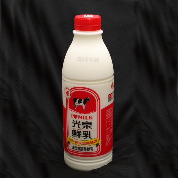 自製優酪乳原料一:鮮奶一瓶