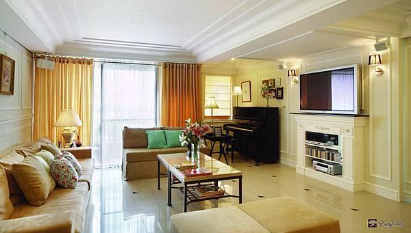 美式裝潢古典設計-客廳01.jpg