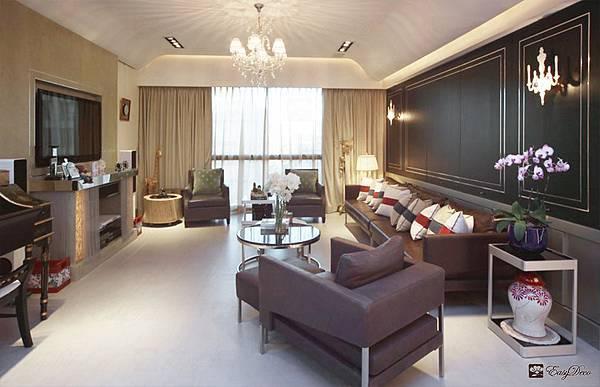 美式裝潢古典設計-客廳13.jpg