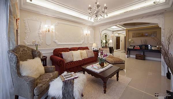美式裝潢古典設計-客廳20.jpg