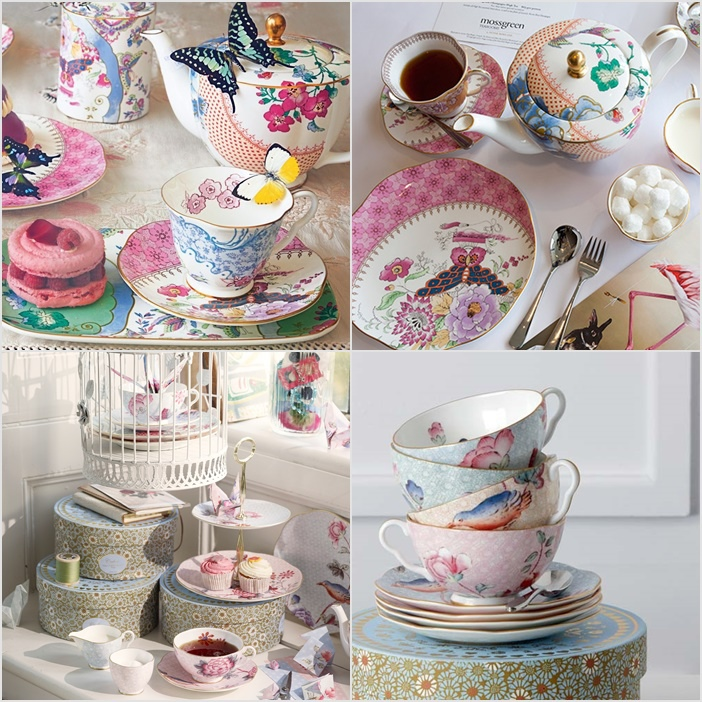 Wedgwood 精緻骨瓷 Cuckoo Tea Story (布穀鳥之茶故事) 與 Butterfly Bloom (蝶戀花) 系列