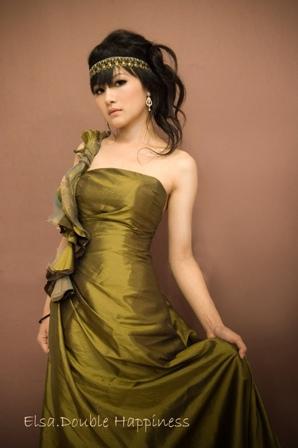新娘造型-晚禮服_拍婚紗造型J001