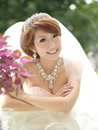 新娘造型-白紗_進場.結婚造型A013