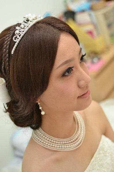 新娘造型-白紗_結婚造型A042