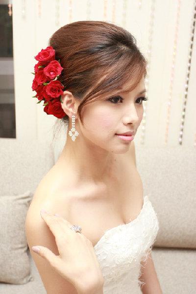 新娘造型-白紗_訂婚造型A044