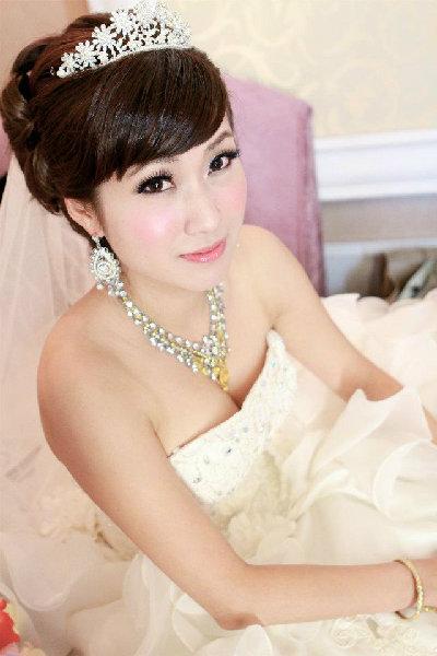 新娘造型-白紗_迎娶造型A052