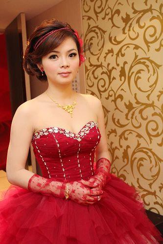 新娘造型-晚禮服_訂婚造型F032