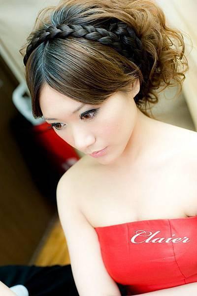 新娘造型-晚禮服_訂婚造型F036