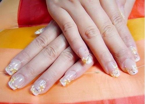 水晶指甲彩繪