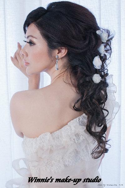 新娘造型-白紗_宴客造型A054