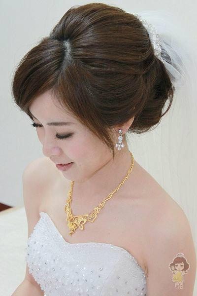 新娘造型-白紗_宴客造型A055