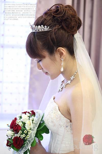 新娘造型-白紗_宴客造型A076