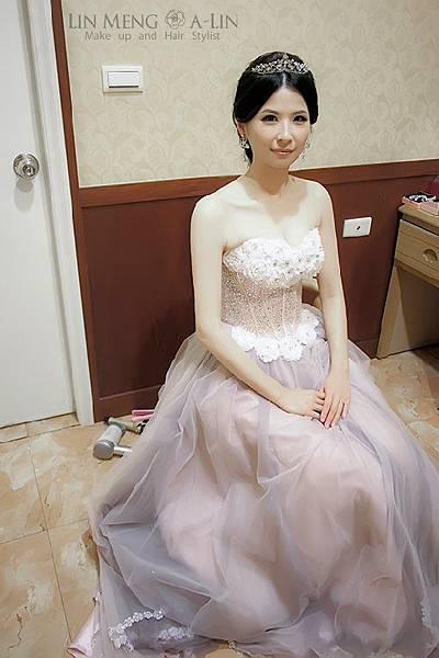 新娘造型-晚禮服_敬酒造型F074