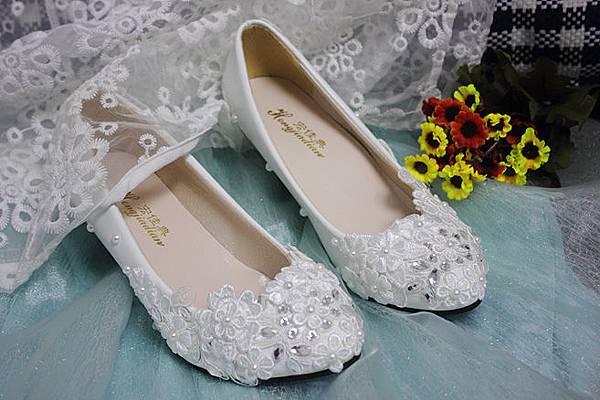 中跟白婚鞋