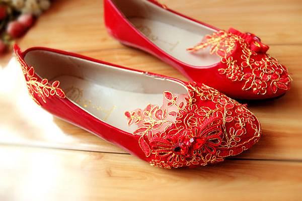 喜氣紅婚鞋