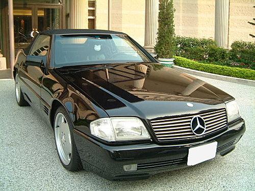 【易特商務網】1993年 BENZ  R129 300SL 雙門敞篷跑車黑色金龜車古董車出租