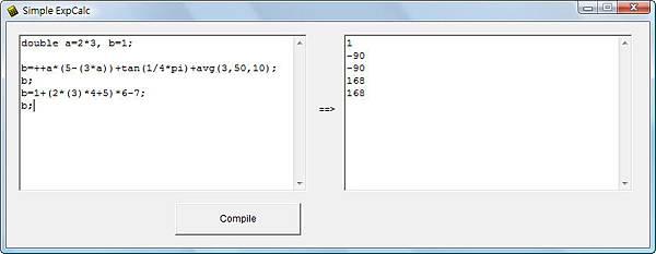 Simple ExpCalc v2 main