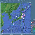 全国M3以上の最近一週間の地震活動
