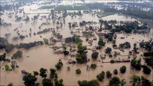 巴基斯坦災後空照圖2
