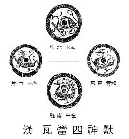 漢 瓦當四神獸