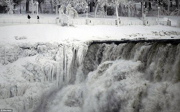 The U.S. side of the Niagara Falls is pictured in Ontario Wednesday January 8, 2014