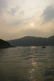 boat 日落