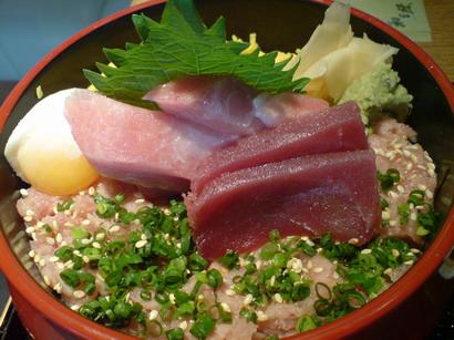吞拿魚三色飯