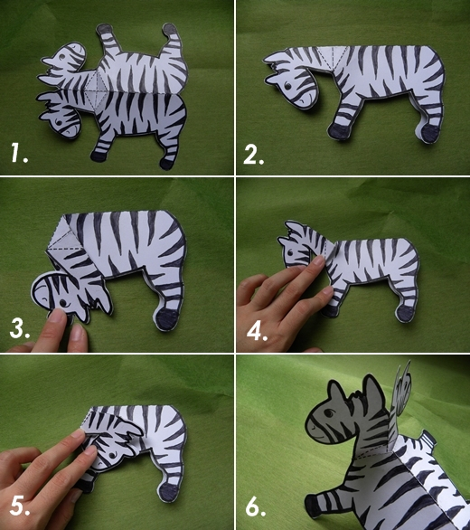 folded paper zebra procedures
