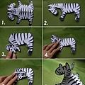folded paper zebra procedures