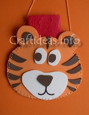 Craft Foam Tiger Pouch
