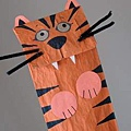 Tiger Paper Bag Puppet