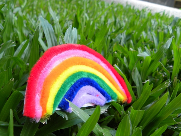 Pipe Cleaner Rainbow Magnet