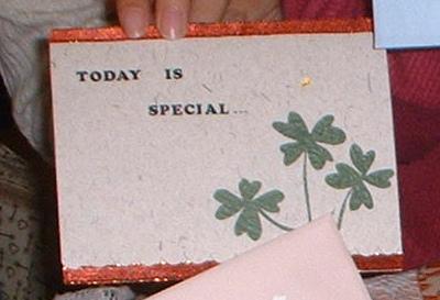 很久以前給巧玲的卡片