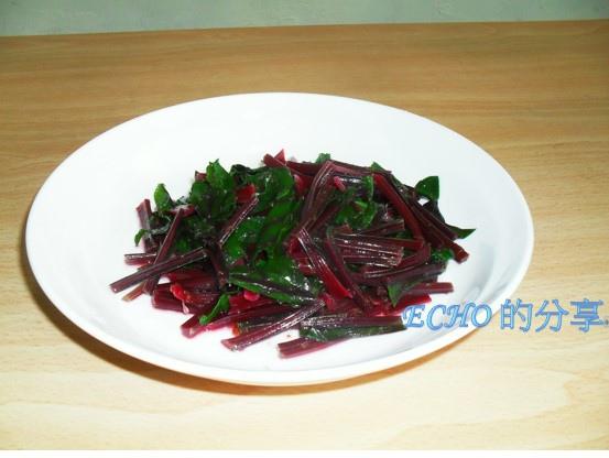 涼拌甜菜根葉-05
