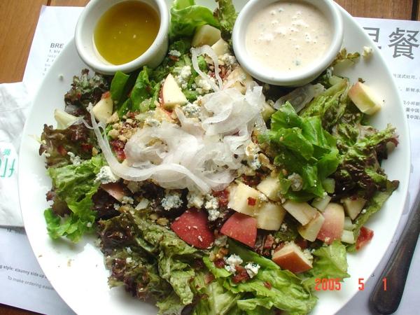 上海新元素餐廳-藍乳酪沙拉.JPG