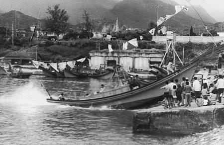 65年老爸的新船下海那一刻 鍾家榮提供