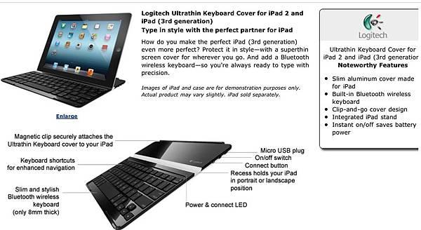 logitech slim keyboard