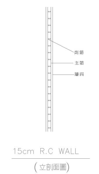 1-2牆鋼筋配置圖