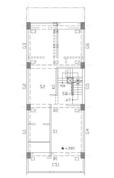 1F頂板結構平面圖-091203