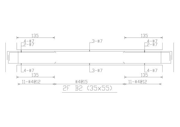 2F B3樑配筋圖-091203