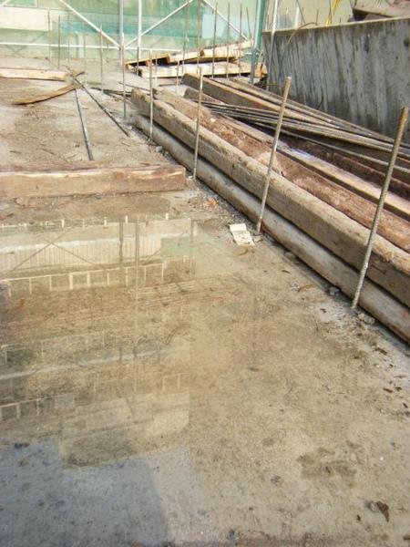 091217-一樓頂板養護5.6及二樓柱鋼筋02