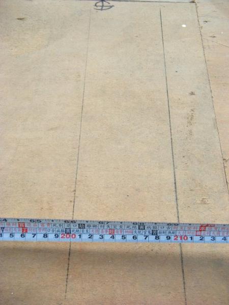 091227-二樓單面模斜支撐及水電放樣04