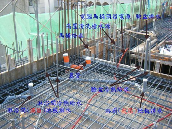 100116-三樓頂板鋼筋及水電作業20