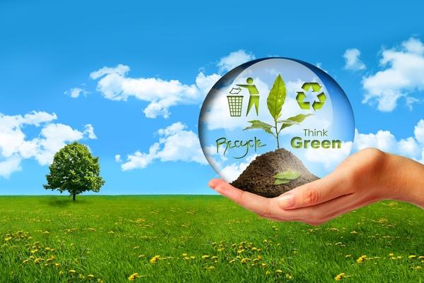 綠色塑膠概念
